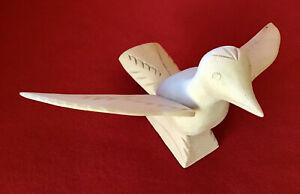 Original Folk Art Wood Carved Bird by SABINITA LOPEZ ORTIZ of CORDOVA N.M.