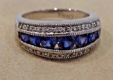 TANZANITE RING/BAND 925 STERLING SILVER SIZE 8