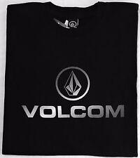 "VOLCOM ""WORDMARK""  Short Sleeve Tee T-Shirt - Men's Medium M (Black) NWT"