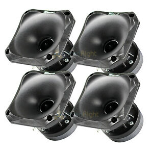 "4 Pack Timpano Slim Compression Horn Driver 150 Watts Max 1"" VC 4x4"" DH175 SLIM"