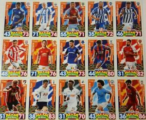 Topps MATCH ATTAX 2017/18 Exclusive MEGA TIN Card Set GAME CHANGERS MT 46 - 60