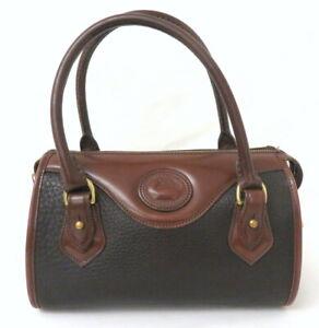 Dooney & Bourke Black Pebble Leather Structured Handbag Purse