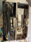 Vintage WW2 German Military Field Phone 1937 w Bakelite Case Prüftaste
