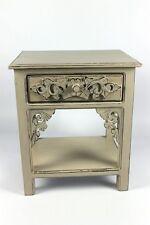 Nachttisch Beistelltisch Telefontisch Pflanzenhocker Konsole weiß antik 50cm