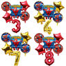 Avengers Spiderman Birthday Balloons Party Decorations Foil Red Gold Age Number