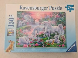 Ravensburger Unicorns in the Sunset Glow 150 XXL Piece Jigsaw Puzzle 2016. NEW