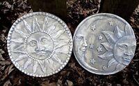 "Eclipse sun plastic molds set of 2 molds 6.5"" x 1/2"" thick each"
