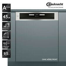 Geschirrspüler Integrierbar A+++ BAUKNECHT BBO 3T333 DLM IA 60cm 14 Maßgedecke