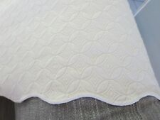 "Linea Casa by Sferra off white coverlet queen ? 92x98"" & 2 pillow shams standard"