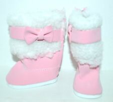 """American Girl Dolls Our Generation 18"""" Doll Clothes Shoes Pink Winter Boots Bows"""