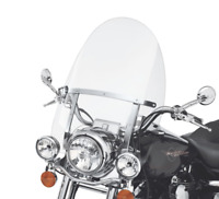 28'' x 22'' Detachable Quick Release Windshield For Harley Road King 94-18 Clear