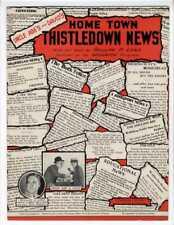NOVELTY SONG NEWSPAPER. Sheet Music 1930 Home Town Thistledown News RADIO