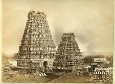 B9042~ Amazing 1870s Albumen Photograph - Kalahasti Temple India