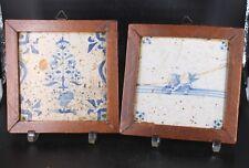 Deux carrelages Delft 18ème polychromes