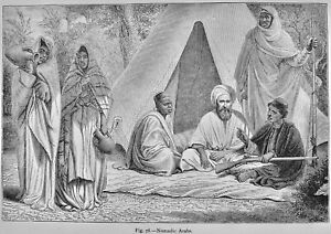 North Africa Arabia NOMADIC ARABS Original Victorian Print by Figuier c1893