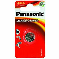 Panasonic CR1632 Pila Bottone Batteria 3V replace CR BR DL ECR KCR LM 1632
