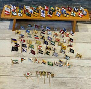 Konvolut verschiedene Reederei Abzeichen, 111 Stück