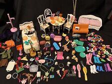 Large Lot DOLL ACCESSORIES Bratz BARBIE Furniture Pets Shoes Kitchenware Purses