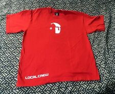 Rare vintage Pearl Jam Red Official Binaural Tour Crew Shirt Size Medium Kangol