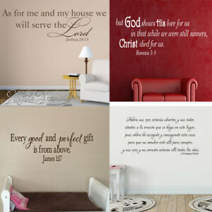 Bible Verse Wall Inspiration Decals Vinyl Removable Sticker Quote Word Art Decor