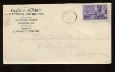 US Mid-Atlantic Advertising Cover (Electrical Contractor) 1948 Steelton, Pa