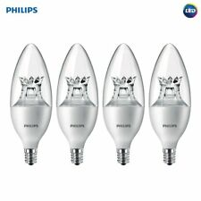 Philips LED Dimmable E12 Base Soft White Light Bulb Warm Glow Effect 4 PACK