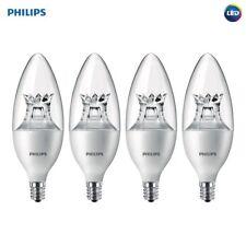 Philips LED Dimmable E12 Base Daylight Light Bulb 500 Lumens 4 PACK