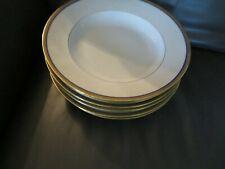 6 assiettes à soupe en porcelaine de limoges Haviland liseré or et bleu (1)