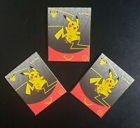 Pokemon 25th Anniversary McDonalds 2021 Sealed Promo Card Packs 1 Holo Lot of 3