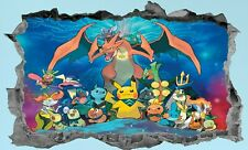 Pokemon,Sticker,Decal,Kids,Bedroom,3D,Wall Art,Mural