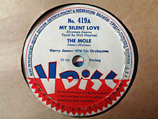 """HARRY JAMES - My Silent Love / COUNT BASIE 12"""" 78 rpm (V DISC, WW2)"""