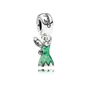 Authentic Pandora Disney Peter Pan Tinkerbell's Dress Silver 925 Charm 792138