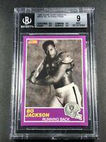 BO JACKSON 1989 SCORE SUPPLEMENTAL #384S FOOTBALL/BASEBALL BGS 9 W/3 9.5 SUBS