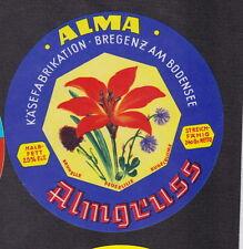 Ancienne   étiquette fromage Autriche  BN19286 Alma Fleur