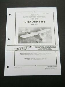 1948 Air Force Aeronca L-16 A/B Champ Pilot Aircraft Flight Operating Manual