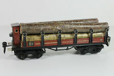 8596/4- Schöner Märklin Spur 0 Stammholzwagen 1852 G