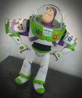 Rare Buzz Lightyear Moving Head Light Up Talking Toy Story Figure Thinkway