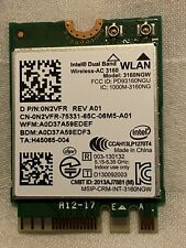 More details for genuine dell intel dual band wireless-ac 3160 ngw wifi bluetooth 4.0 card n2vfr