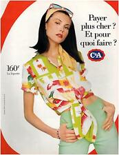 ▬► PUBLICITE ADVERTISING AD C&A Vêtement