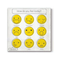"""""""How Do You Feel"""" - Pack of 20 paper napkins - 33x33cm - 3ply - Decoupage"""