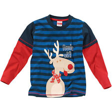 Christmas Young Boys Reindeer Top Rude Off! Novelty Character Print Long Sleeve