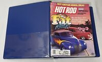 HOT ROD & CUSTOM MAGAZINE LOT OF 12 ISSUES JUL 1985- JUN 1986 PLUS BLUE BINDER