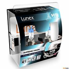 2x H9 Lunex SUPREME VISION 12V 65W Car Headlight Halogen Bulbs PGJ19-5 3700K