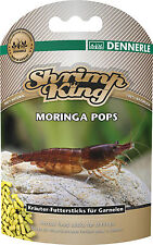 Dennerle Shrimp King Moringa Pops - Herbal Snowflake Food with Fennel & Moringa