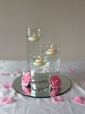 Glass Cylinder Vases (3 Sizes) for hire x18 sets