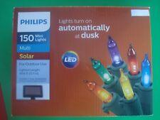 philips solar led christmas string lights mult turns on at dusk energy saver