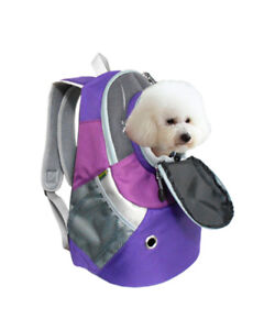 Dog Cat Carrier Mesh Outdoor Backpack Ventilated Visible Mesh Fabric Large Size