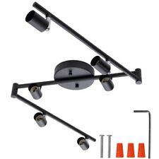 4/6 Heads Track Lighting Black Silver LED Chandeliers Light Modern Industrial 1p