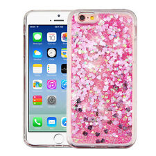 Bling Hybrid Liquid Glitter Rubber Protector Case Cover For iPhone Samsung LG