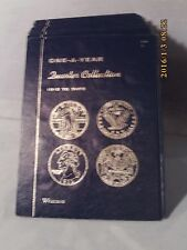 Whitman Blue Tri-Fold Coin Folder #9104 One A Year Quarter Collection 1916-Date